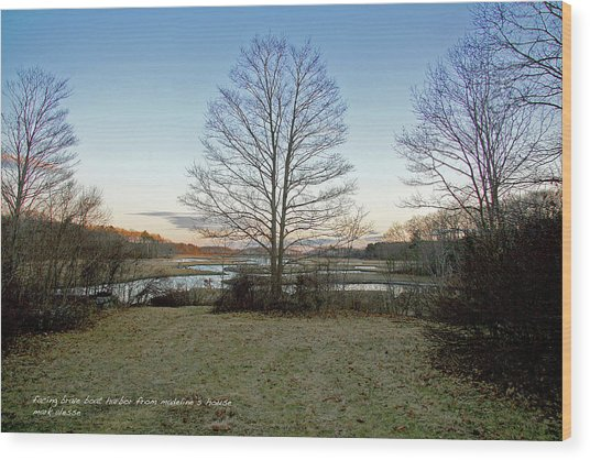 Facing Brave Boat Harbor Wood Print