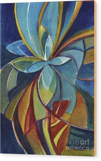 Fractal Flower Wood Print