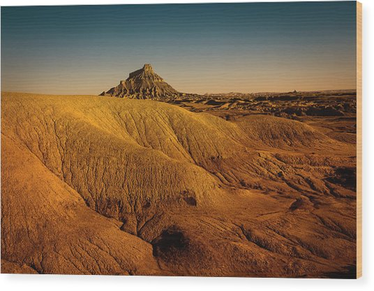 Factory Butte Wood Print