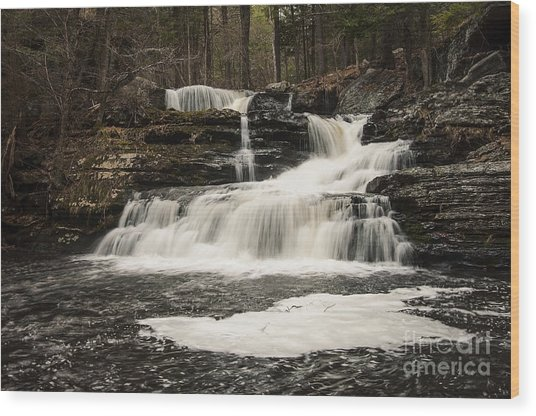 Factory Falls Wood Print