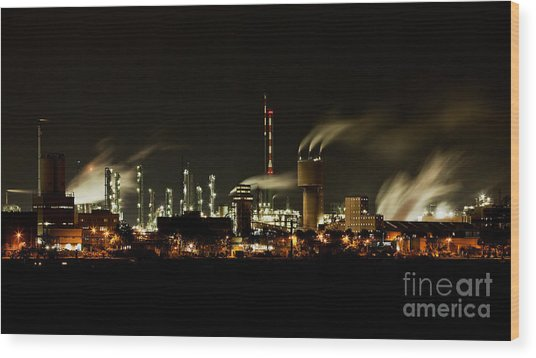 Factory Wood Print