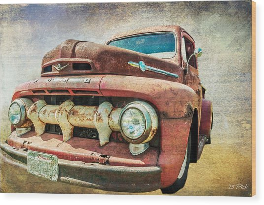 Faded Ford Wood Print by Tom Pickering of Photopicks Photography and Art