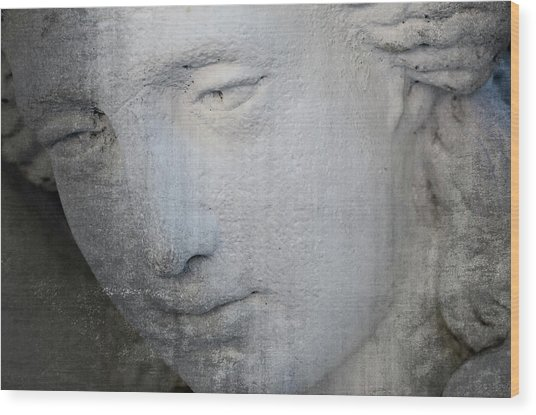 Faded Statue Wood Print