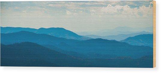 Fading Appalachians Wood Print
