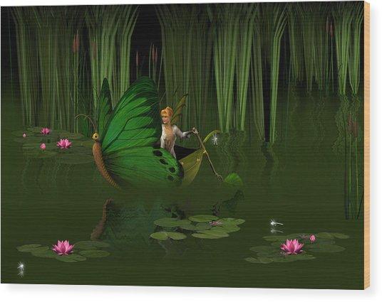 Faerie Pond Wood Print