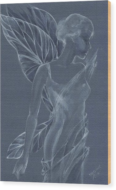 Faery Shadow Wood Print