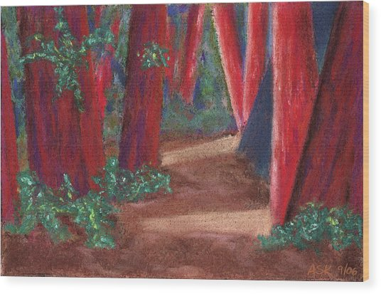 Fairfax Redwoods Wood Print