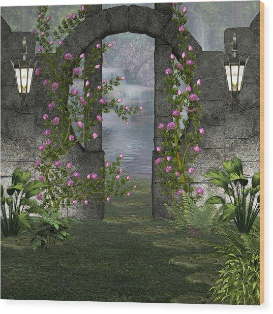 Fairies Door Wood Print