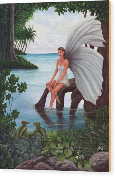 Fairies Glade Wood Print