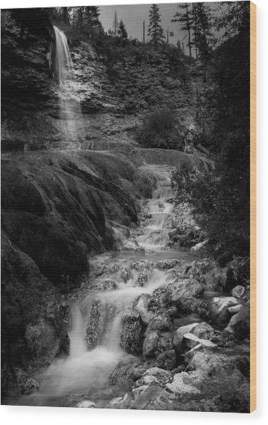 Fairmont Waterfall Wood Print