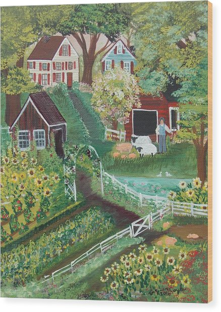 Fairview Farm Wood Print