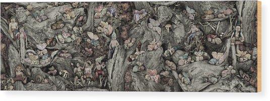 Fairy City Wood Print