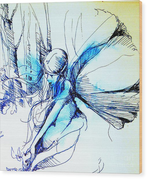 Fairy Doodles Wood Print