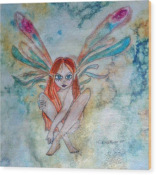 Fairy Dust Wood Print by Mickie Boothroyd