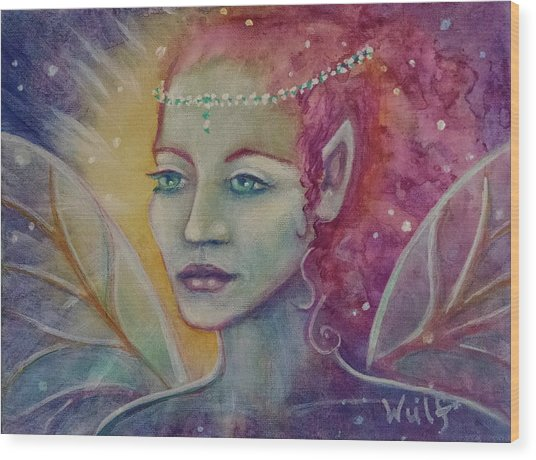 Fairy Fantasy Wood Print