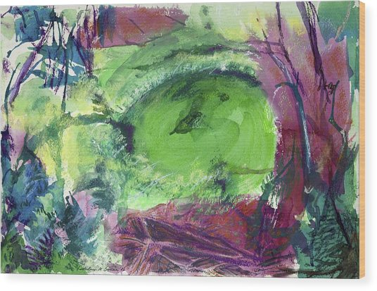 Fairy Ring, Lasso Forest Wood Print