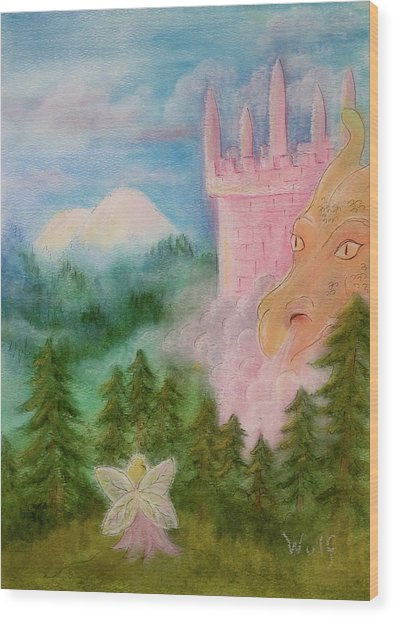 Fairy Sunrise Wood Print