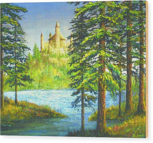 Fairy Tale Castle Wood Print