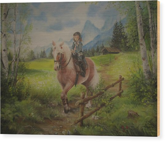 Fairy Tale In The Alps Wood Print
