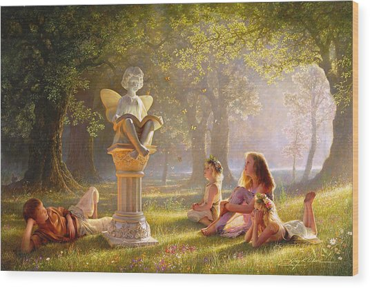 Fairy Tales  Wood Print by Greg Olsen