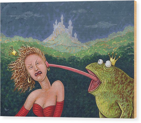 Fairy Tales The Frog Prince Wood Print
