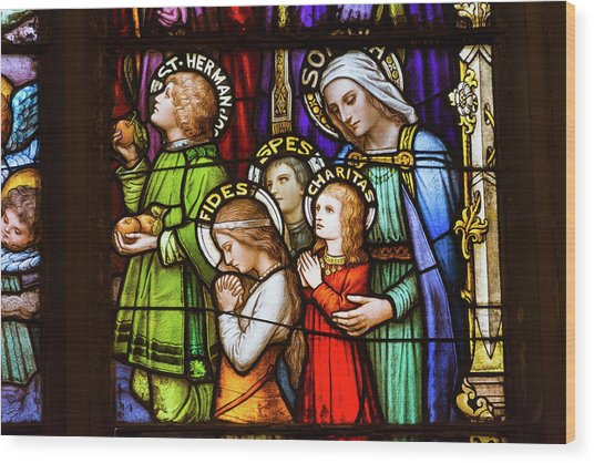 Wood Print featuring the photograph Faith, Hope, And Charity by Matthew Chapman