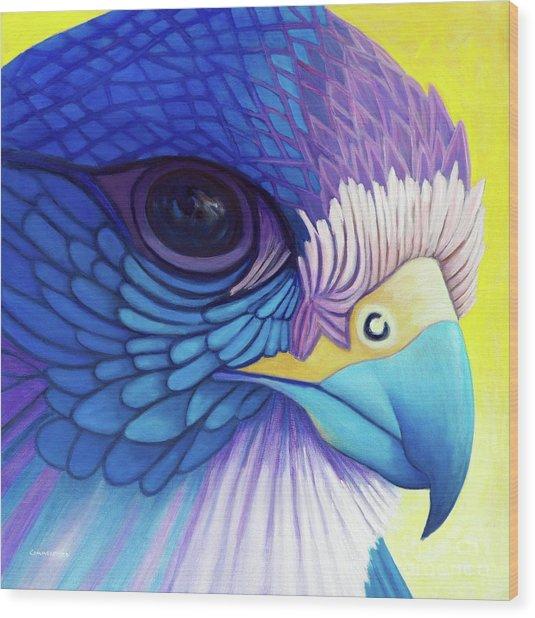 Falcon Medicine Wood Print