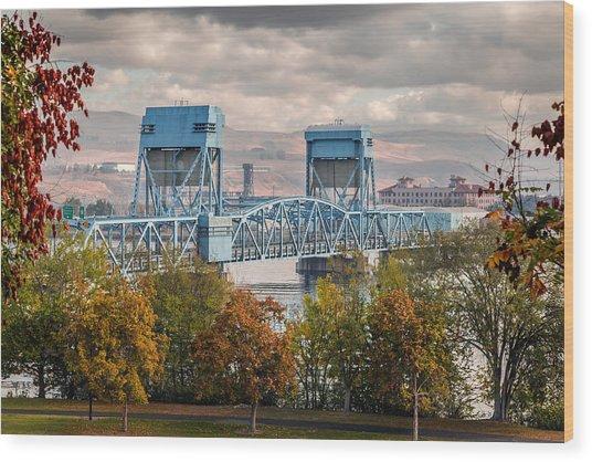 Fall 2015 Blue Bridge Wood Print