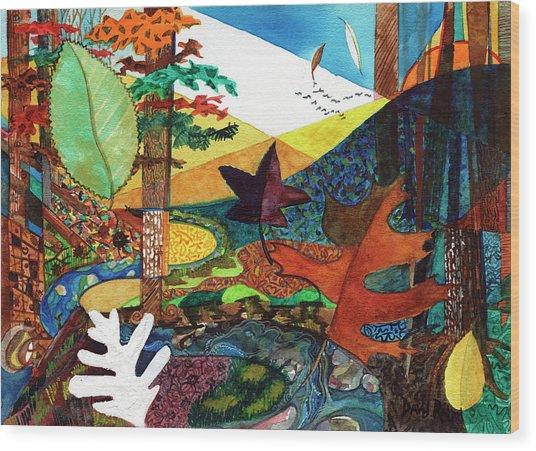 Fall Along The Patuxent Wood Print