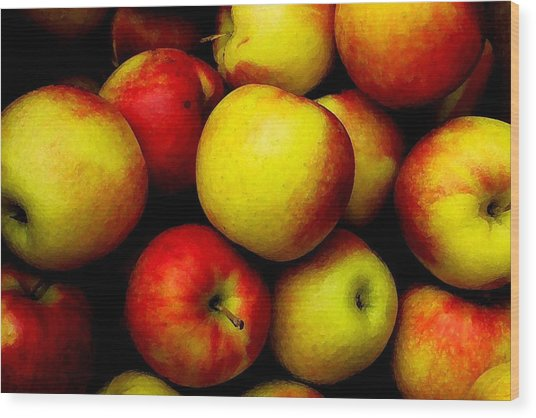 Fall Apples Wood Print by Dennis Curry