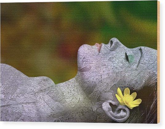 Fall Asleep Wood Print