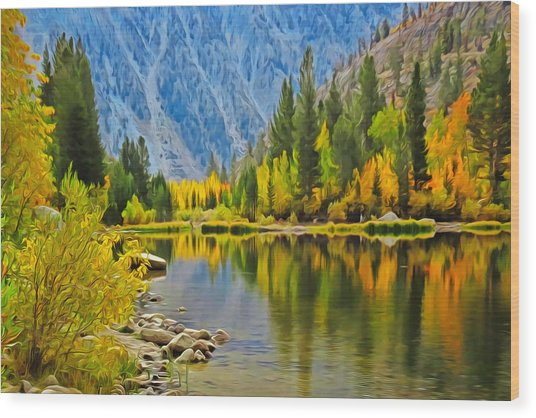 Fall At North Lake Wood Print