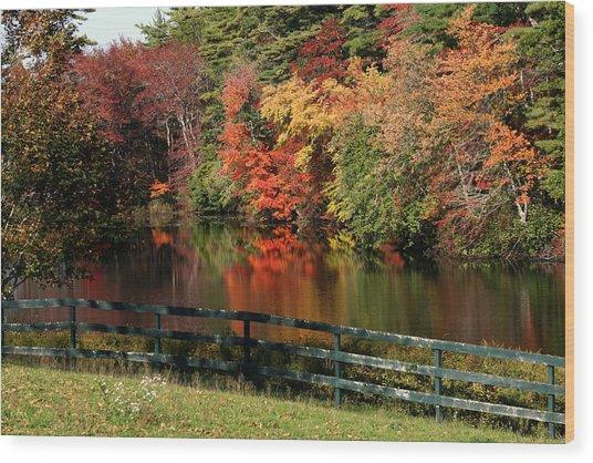 Fall At The Farm Wood Print