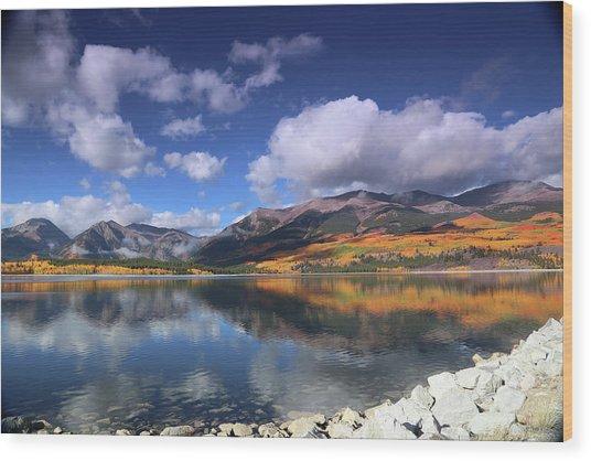 Fall At Twin Lakes Wood Print