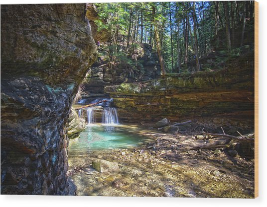 Fall Below Old Mans Cave Wood Print