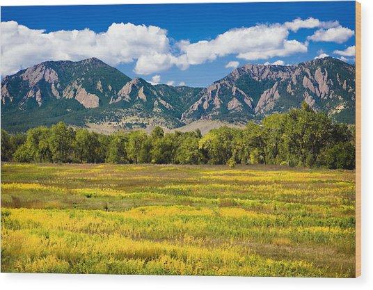 Fall Colors Of Boulder Colorado Wood Print