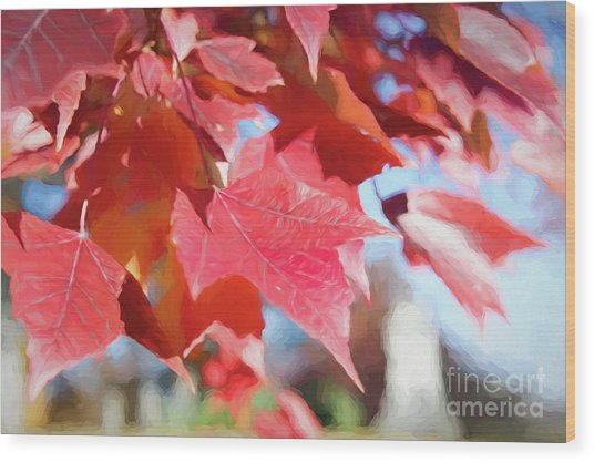 Fall Colors Oil Wood Print