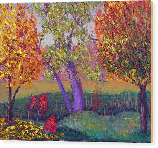 Fall Colors Wood Print by Stan Hamilton