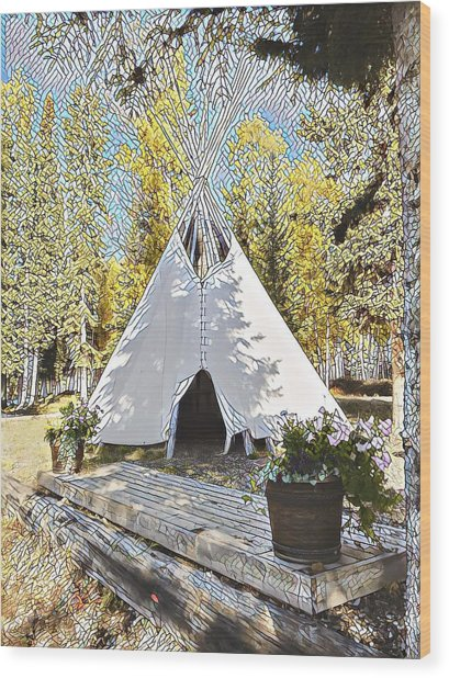 Fall Daze Wood Print