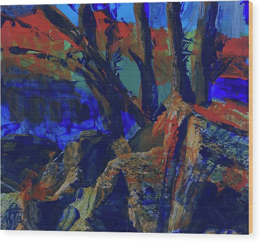 Fall Hiking Trail 1 Wood Print