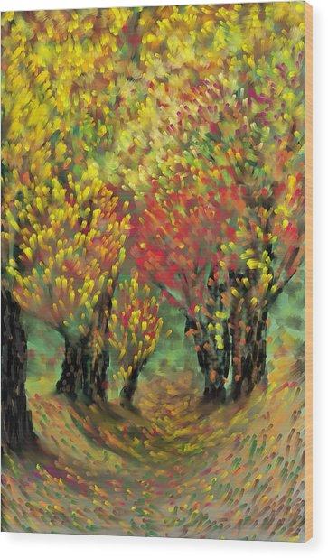 Fall Impression Wood Print by Harry Dusenberg