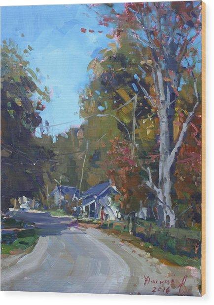Fall In Glen Williams On Wood Print