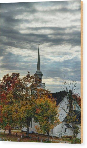 Fall In Lamoine Wood Print
