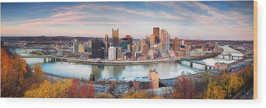 Fall In Pittsburgh  Wood Print