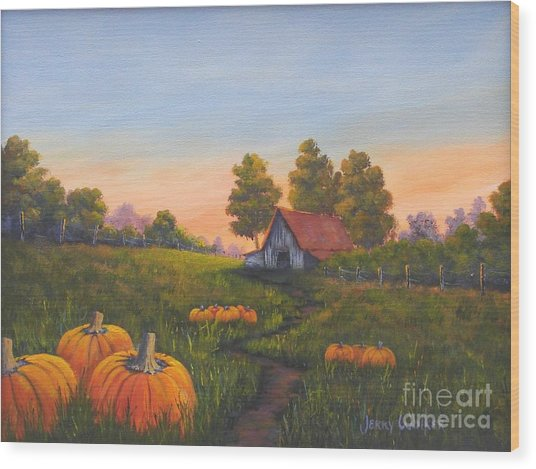 Fall In The Air Wood Print by Jerry Walker
