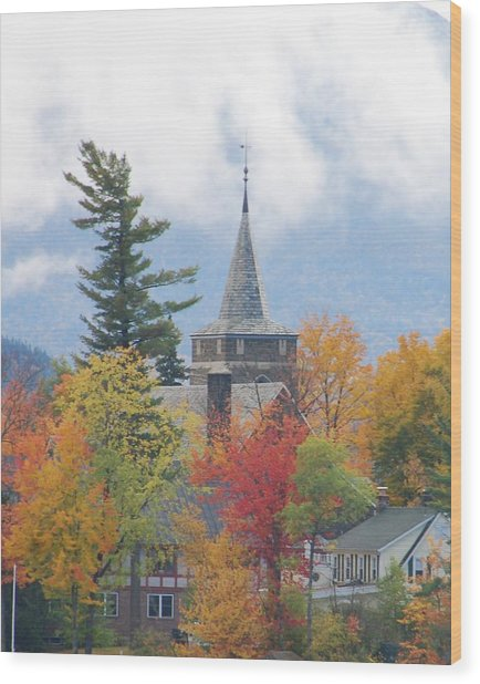 Fall In Upstate New York Wood Print by Becky Hollis