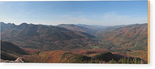 Fall Keene Valley Panorama Wood Print
