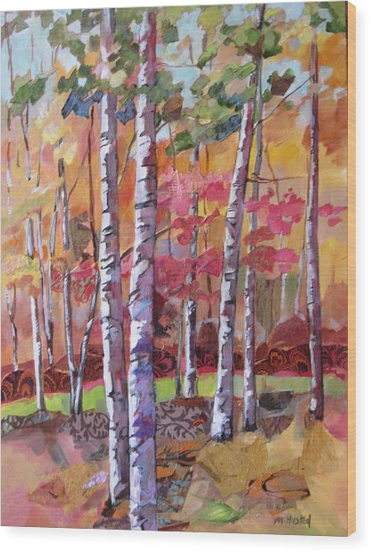 Fall Medley Wood Print by Marty Husted