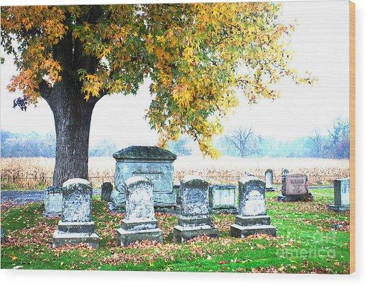 Fall Memories Wood Print