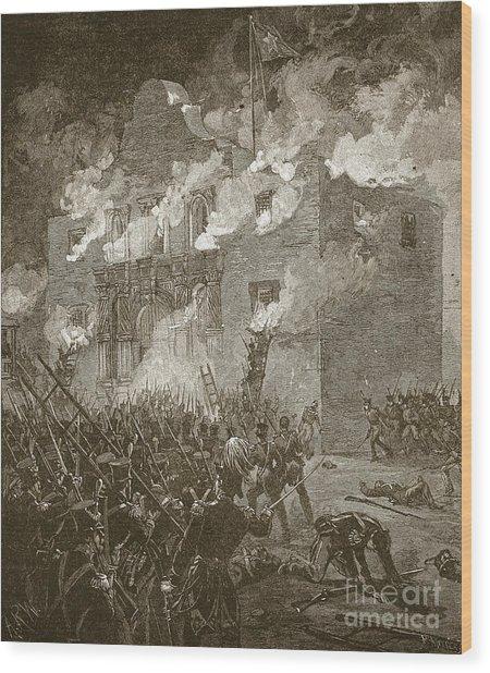 Fall Of The Alamo Wood Print
